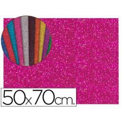 Goma Eva purpurina 50x70xm. rosa