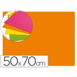 Goma Eva fluorescent 50x70xm.taronja
