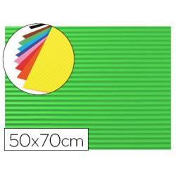 Goma EVA ondulada 50x70cm. verde