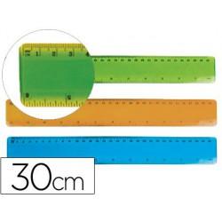 Reglas plástico flexible 30cm.