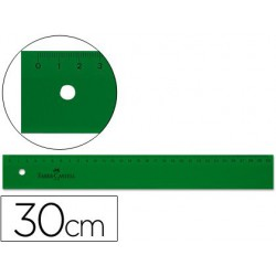 Regla Faber Castell graduada 30cm.