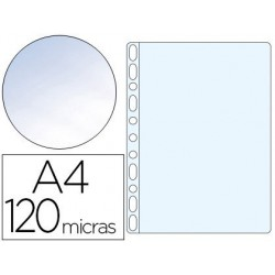 Funda multitaladro folio cristal 120µ. 100u.
