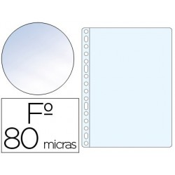 Funda multitaladro folio crystal 80µ. 100u.