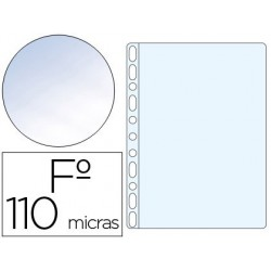 Funda multitaladro PVC folio crystal 110µ. 100u.
