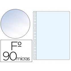 Funda multitaladro Saro PVC folio crystal 90µ. 100u.