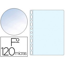 Funda multitaladro folio cristal 120µ. 10u.
