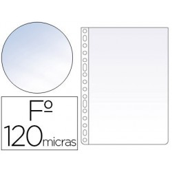 Funda multitaladro Esselte folio crystal 120µ. 100u.