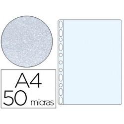 Funda multitaladro A4 piel naranja 50µ. 100u.