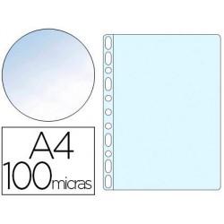Funda multitaladro A4 crystal 100µ. 10u.