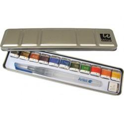 Aquarel·la Artist start caixa metall 12u.