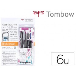 Set caligrafia Tombow lettering beginner 6 piezas