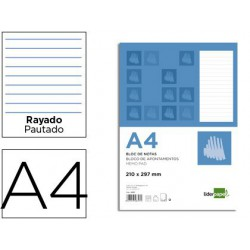 Bloc notas horizontal A4 80 hojas
