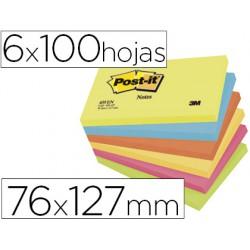 Post-it bloc notes neó 76x127mm blocs